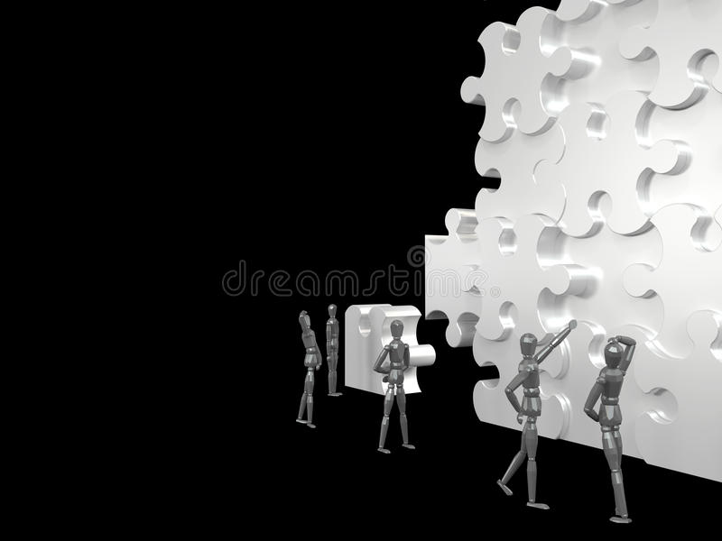 Trabajo en equipo Rompecabezas ilustración del vector