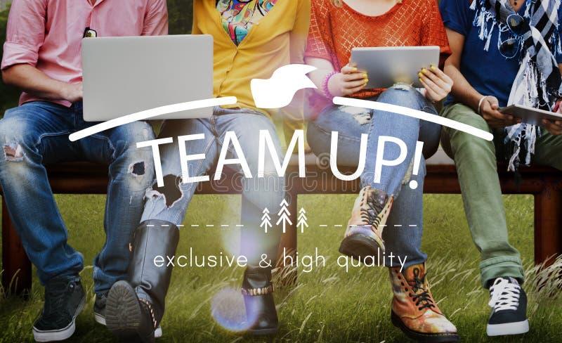 Trabajo en equipo Team Building Spirit Togetherness Concept imagenes de archivo