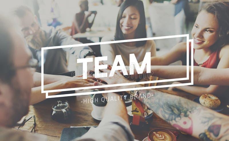 Trabajo en equipo Team Building Spirit Togetherness Concept imágenes de archivo libres de regalías