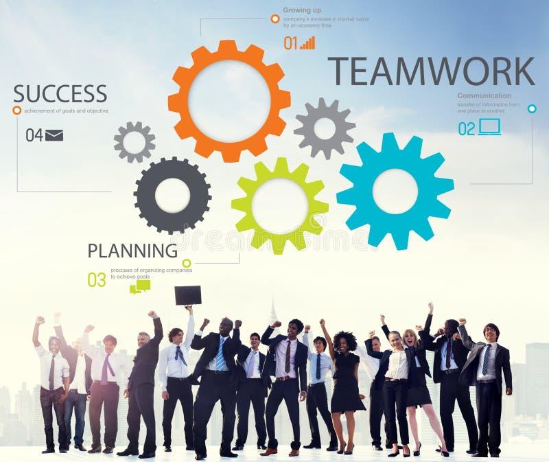 Trabajo en equipo Team Collaboration Connection Togetherness Unity Concep imagenes de archivo