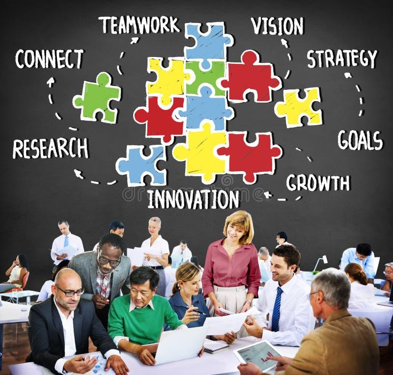 Trabajo en equipo Team Collaboration Connection Togetherness Unity Concep imágenes de archivo libres de regalías