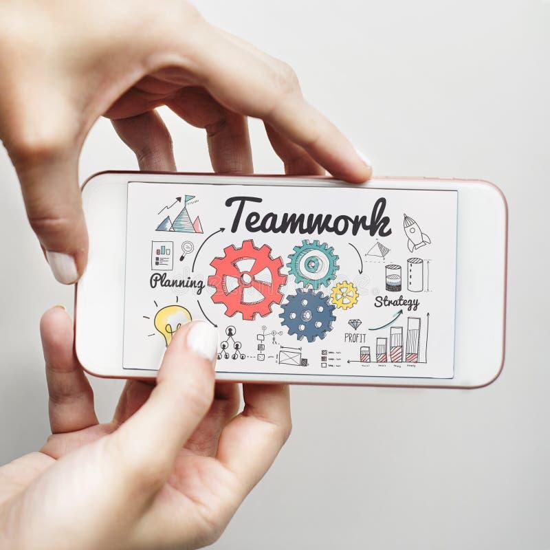 Trabajo en equipo Team Collaboration Connection Togetherness Unity Concep fotos de archivo libres de regalías