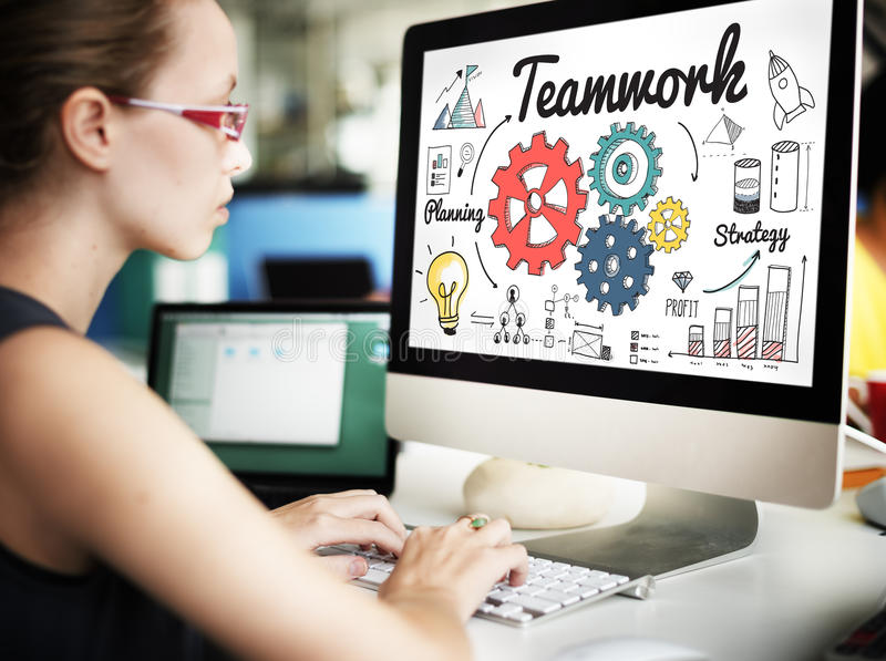 Trabajo en equipo Team Collaboration Connection Togetherness Unity Concep fotografía de archivo libre de regalías