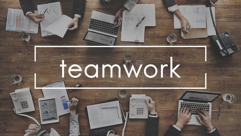 Trabajo en equipo Team Collaboration Connection Unity Concept imágenes de archivo libres de regalías