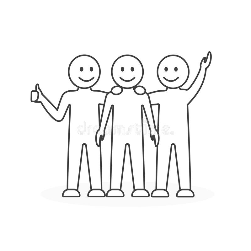 Trabajo feliz de las personas libre illustration