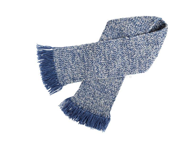 Trabajo hecho a mano hecho punto bufanda Bufanda de lana colorida fotografía de archivo libre de regalías