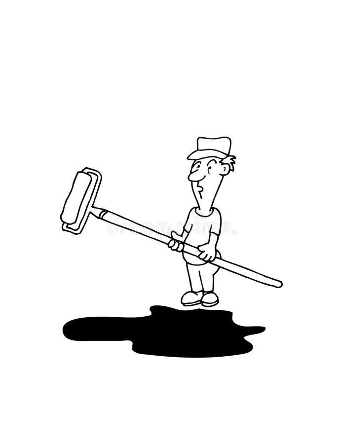 Trabajo impar Joe - pintor stock de ilustración
