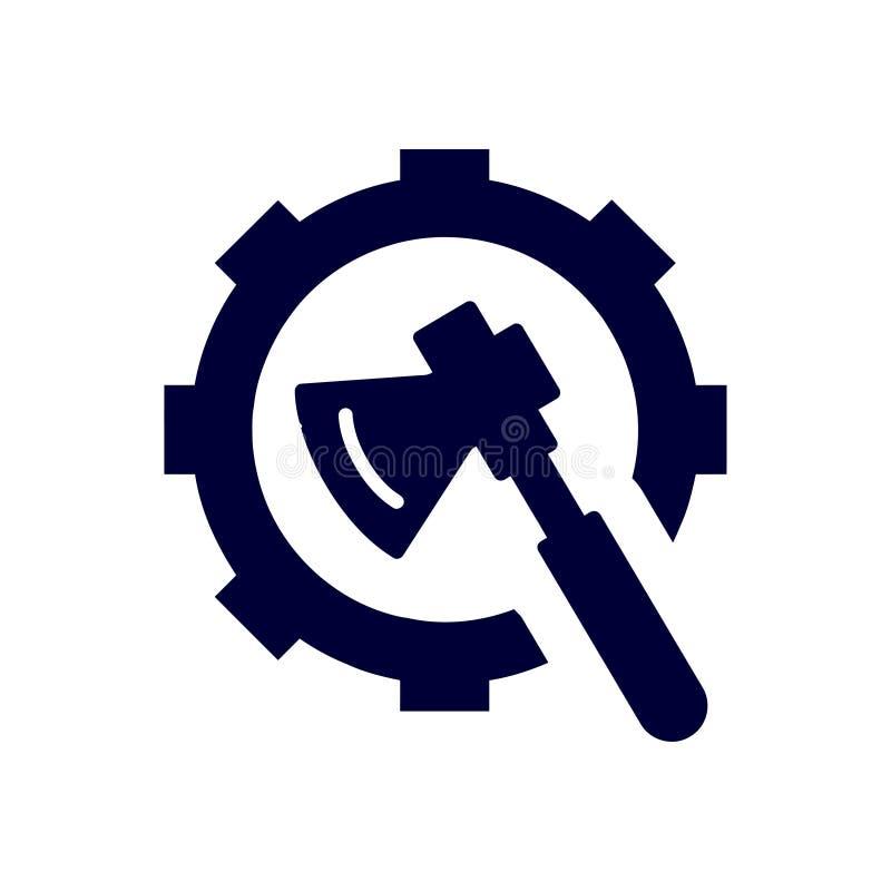 trabajo, llave inglesa, reparación, martillo, llave, industria, construcción, destornillador, ajustes, equipo, servicio, mantenim stock de ilustración