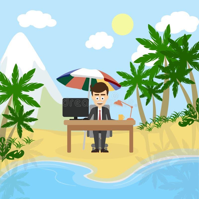 Trabajo y relajación ilustración del vector