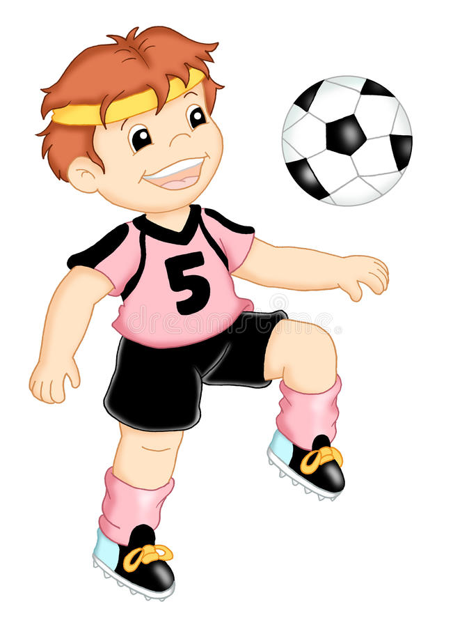 Trabajos 2, el jugador de fútbol stock de ilustración