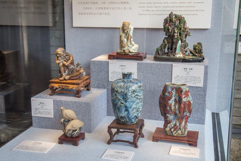 Trabajos de arte de cerámica de Shiwan en Guangdong, Foshan imágenes de archivo libres de regalías