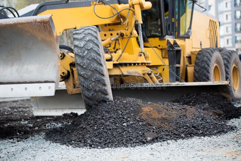 Trabajos de la construcción de carreteras imagen de archivo