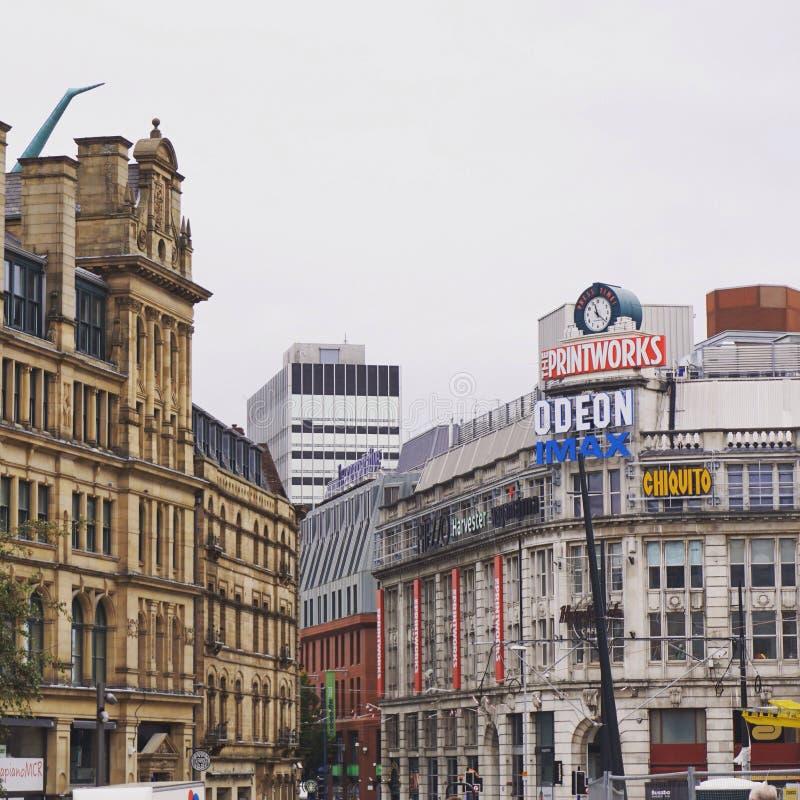 Trabajos de la impresión de Manchester fotografía de archivo libre de regalías