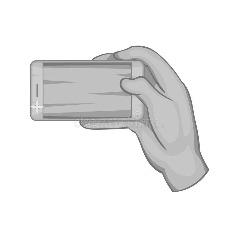 Trabajos de mano con un icono del smartphone libre illustration
