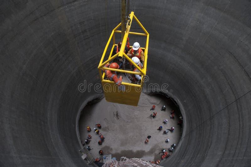 Trabajos del subterráneo imagen de archivo
