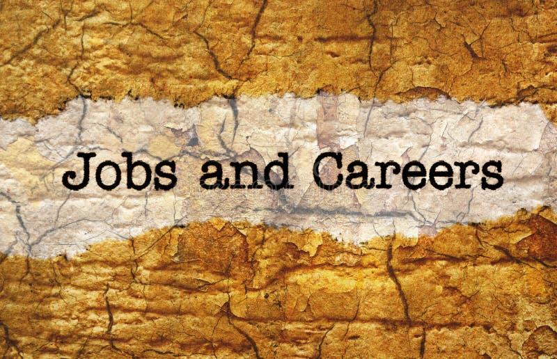 Trabajos y carreras fotos de archivo