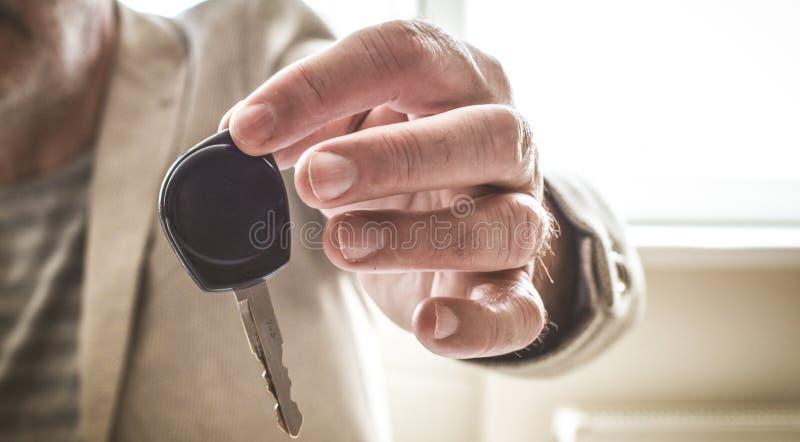 Trabalha bem e a chave é a vossa imagens de stock