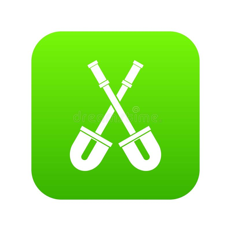 Trabalha com pá o verde digital do ícone ilustração do vetor
