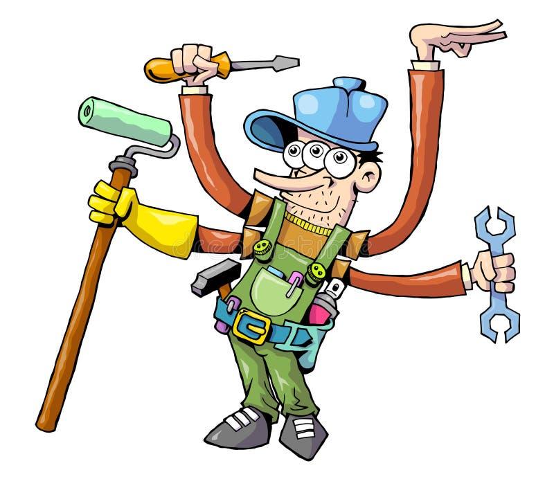 Trabalhador 01 ilustração royalty free