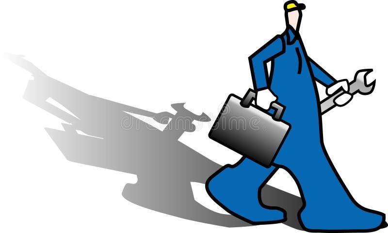 Trabalhador ilustração do vetor