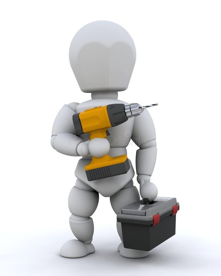 Trabalhador da construção ilustração stock
