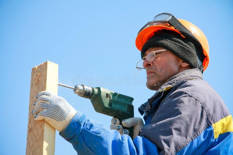 Download Trabalhador da construção imagem de stock. Imagem de azul - 12809149