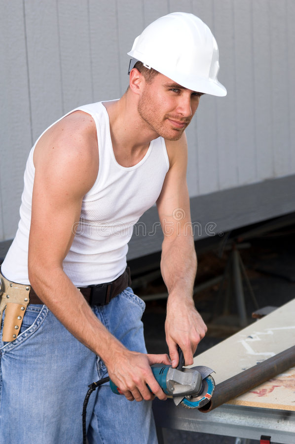 Trabalhador da construção fotografia de stock royalty free
