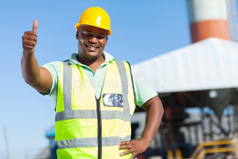Trabalhador da construção africano fotografia de stock royalty free