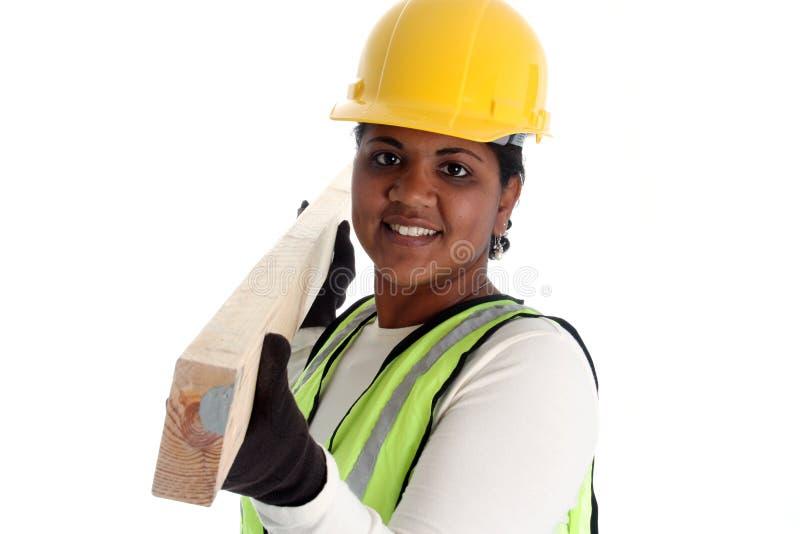 Trabalhador da construção da mulher imagem de stock royalty free