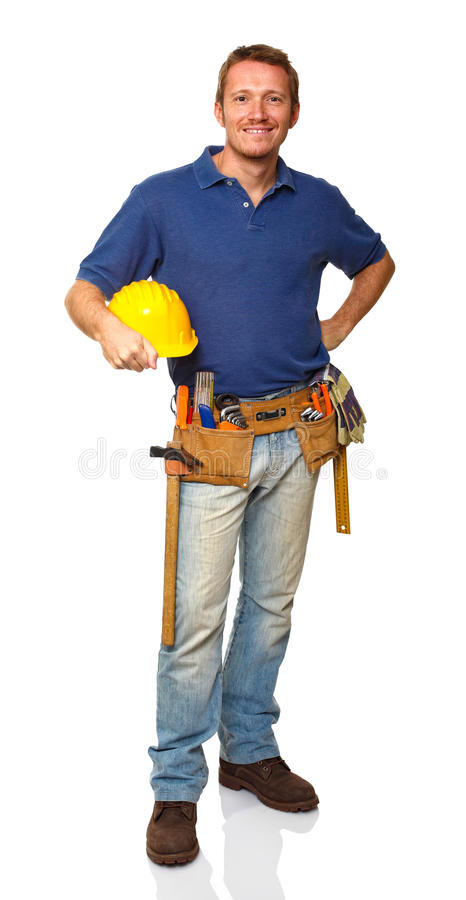 Download Trabalhador Da Construção Ereto Foto de Stock - Imagem de ocupação, homem: 16872570