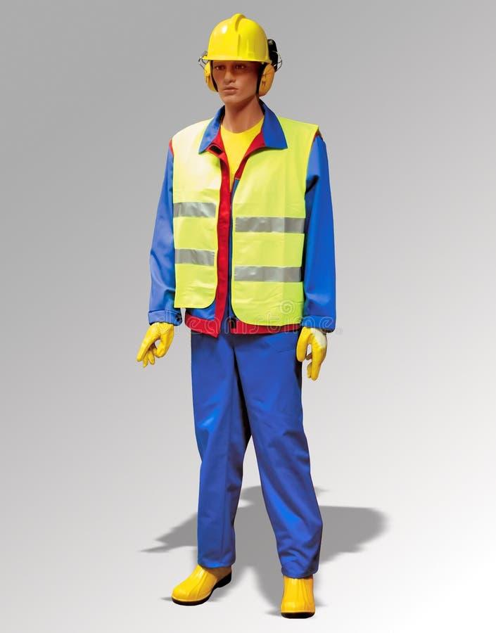 Trabalhador da construção - fantoche fotografia de stock royalty free
