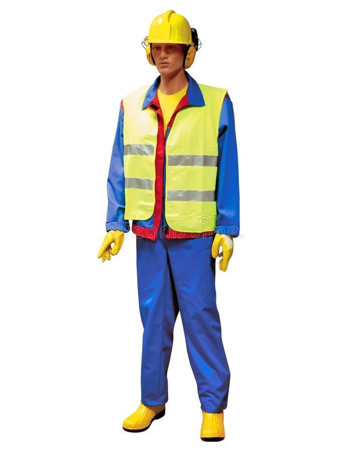 Trabalhador da construção - fantoche imagem de stock