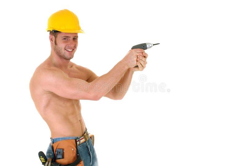 Trabalhador da construção macho fotos de stock