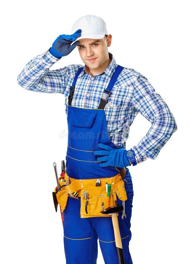 Trabalhador da construção masculino novo imagem de stock royalty free