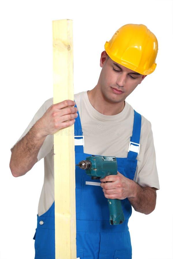 Trabalhador da construção novo imagens de stock