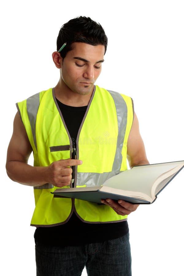 Trabalhador da construção ou estudante imagem de stock royalty free