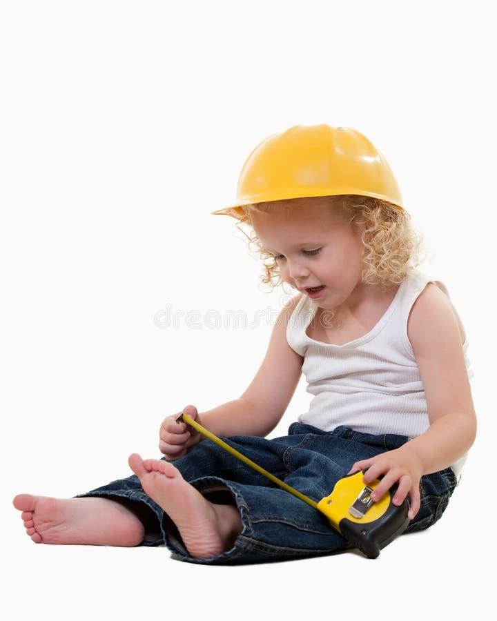 Trabalhador da construção pequeno fotos de stock royalty free