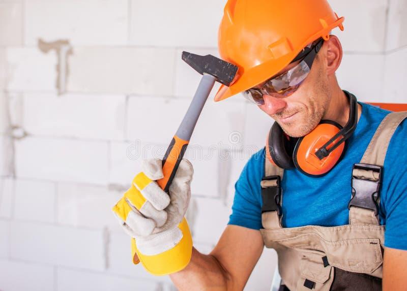 Trabalhador da construção Theme foto de stock