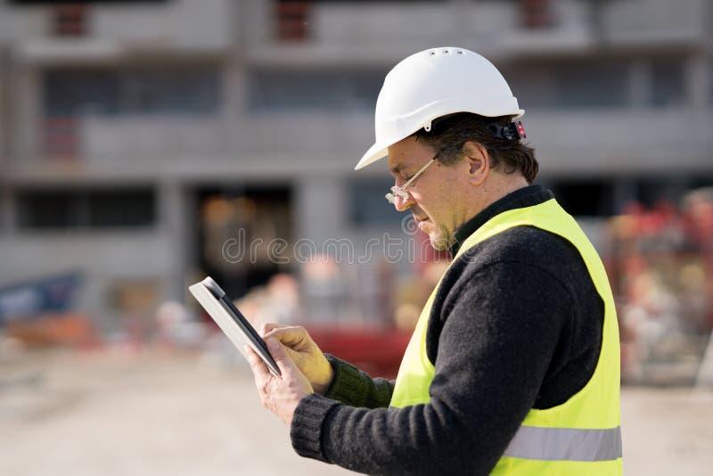Trabalhador da construção At Work foto de stock