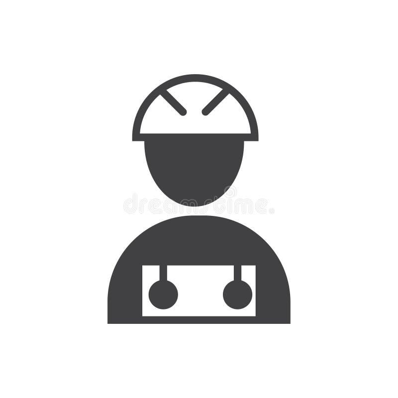 Trabalhador da constru??o do s?mbolo do sinal do vetor do ?cone do trabalhador da constru??o ilustração do vetor