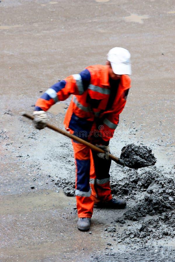 Trabalhador da estrada imagens de stock