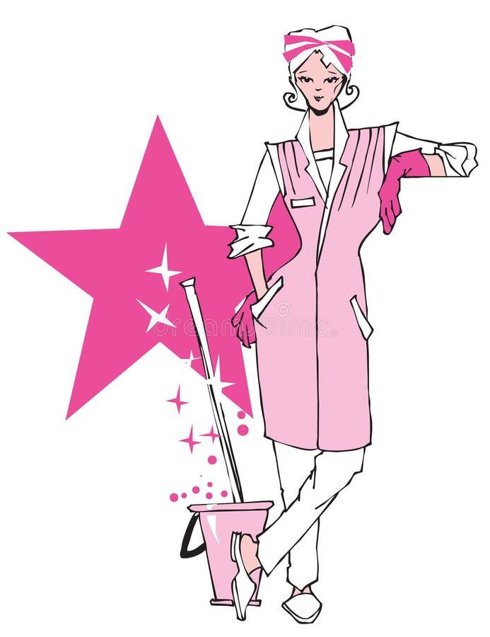 Trabalhador da limpeza da SÉRIE do TRABALHO ilustração royalty free