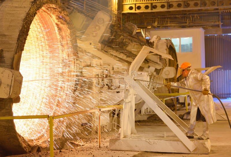 Trabalhador de aço foto de stock