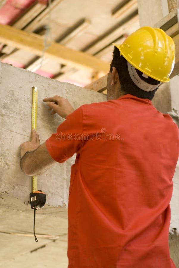 Trabalhador de construções no local fotos de stock royalty free