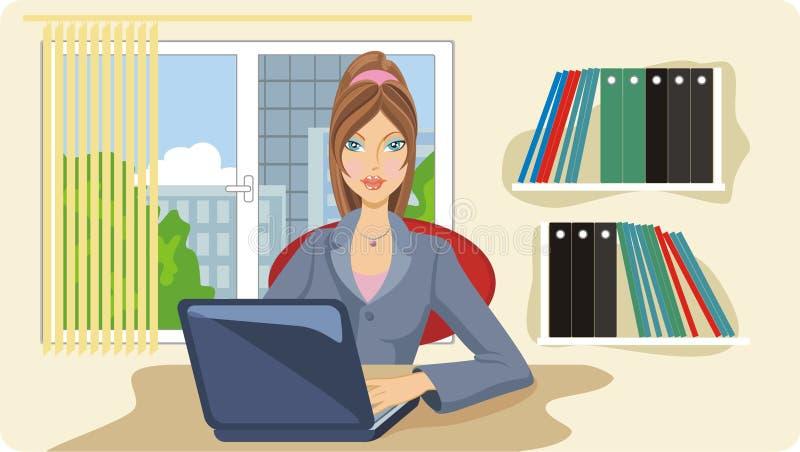 Trabalhador de escritório imagem de stock royalty free