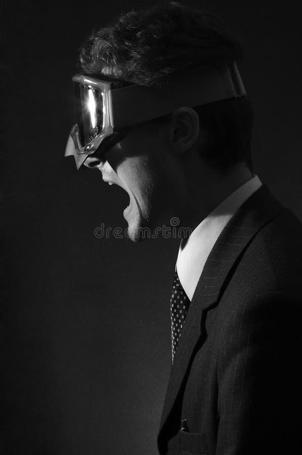 Trabalhador de escritório em uma raiva fotos de stock royalty free