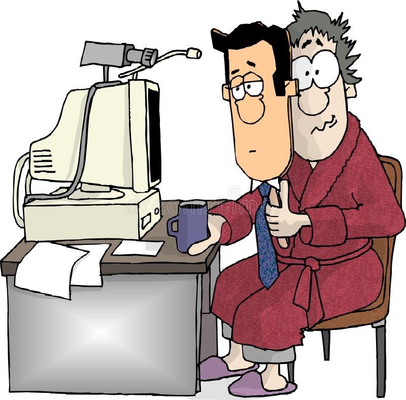 Trabalhador de escritório Home ilustração do vetor
