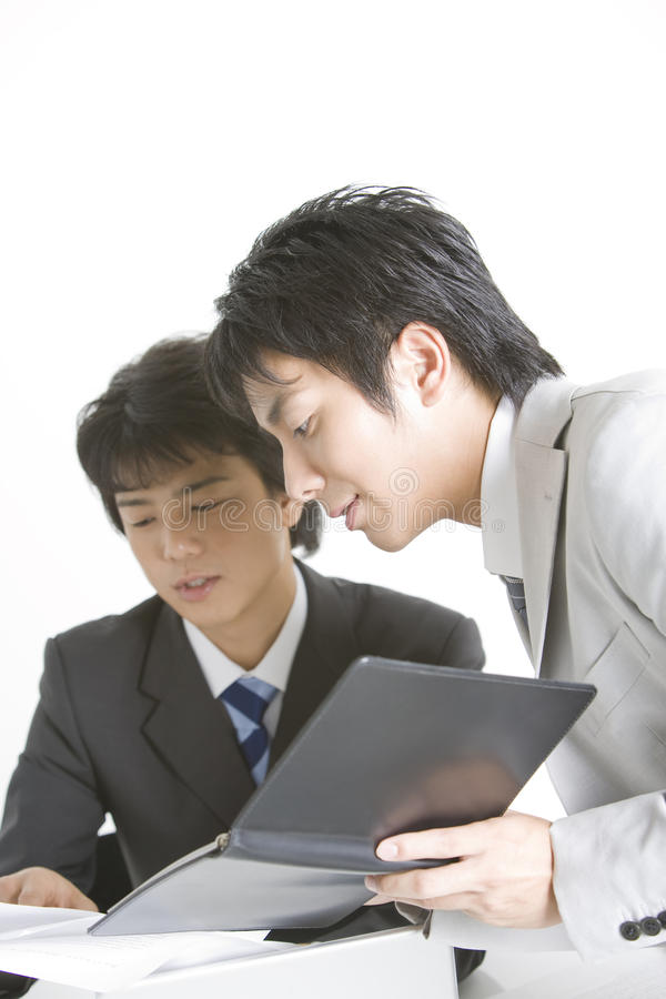 Trabalhador de escritório japonês foto de stock