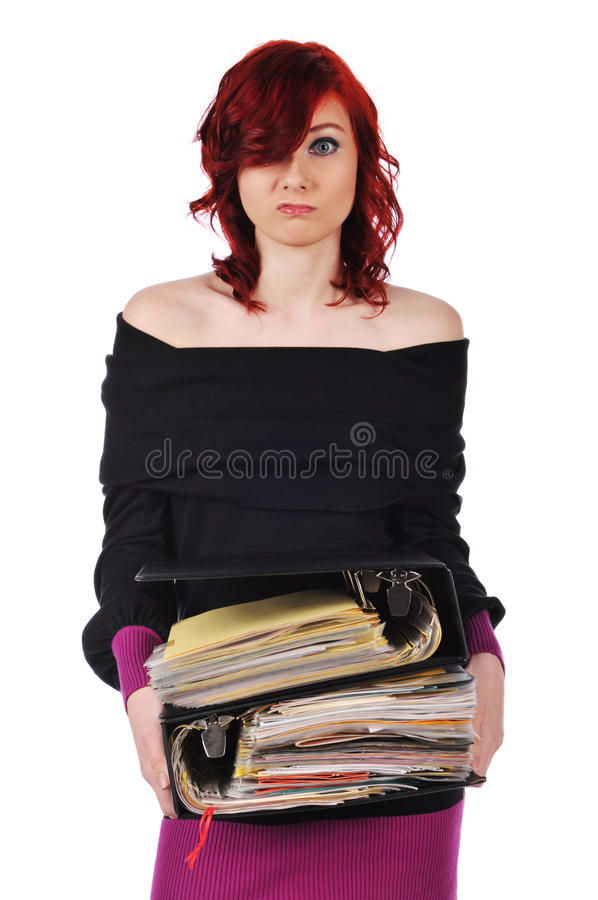 Trabalhador de escritório Overworked imagens de stock