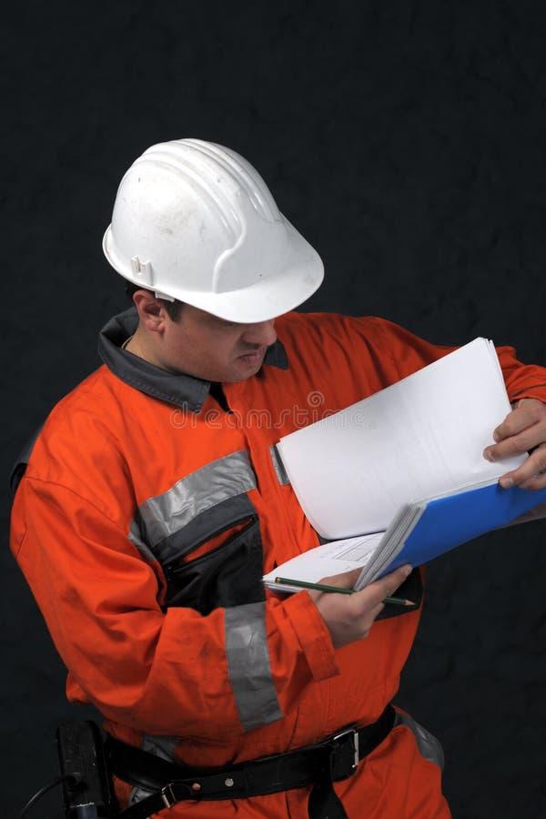 Trabalhador de mina com arquivo fotografia de stock